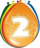 Feest 24x stuks ballonnen 2 jaar