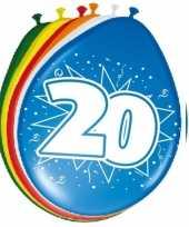 Feest 24x stuks ballonnen 20 jaar