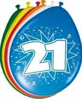 Feest 24x stuks ballonnen 21 jaar