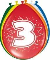 Feest 24x stuks ballonnen 3 jaar