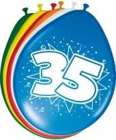 Feest 24x stuks ballonnen 35 jaar