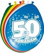 Feest 24x stuks ballonnen 50 jaar abraham