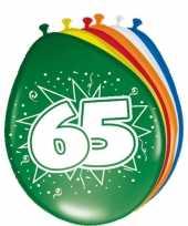 Feest 24x stuks ballonnen 65 jaar