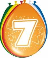 Feest 24x stuks ballonnen 7 jaar