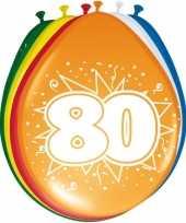 Feest 24x stuks ballonnen 80 jaar