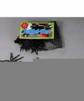 Feest 24x zwarte nepspinnetjes in netje