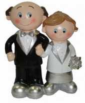 Feest 25 jarig huwelijk poppetjes