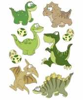 Feest 27x dinosaurus dieren stickers met 3d effect wiebeloogjes