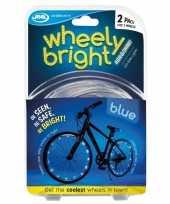 Feest 2x blauwe fietsverlichting spaakverlichting led lichtslangen