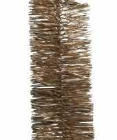 Feest 2x bruine kerstversiering folie slinger 270 cm