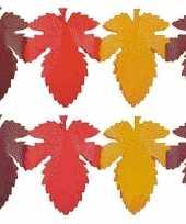 Feest 2x herfstbladen decoratie slinger