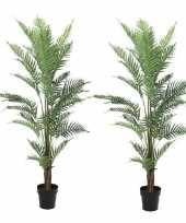 Feest 2x kunstplanten groene varen 150 cm voor binnen