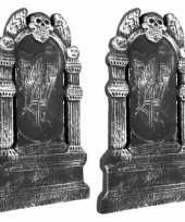 Feest 2x rest in peace grafstenen 50 cm