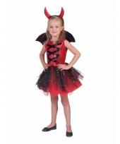 Feest 3 delige verkleedkleding jurkje duivel