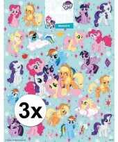 Feest 3 x stickervellen my little pony groot