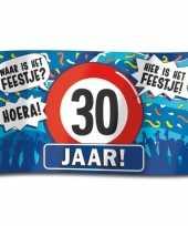 Feest 30e verjaardag straatvlag 100x150 cm