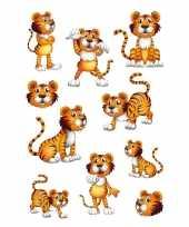 Feest 30x tijgers dieren stickers met wiebeloogjes