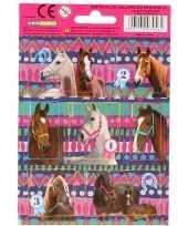 Feest 32x paarden dieren stickers
