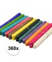 Feest 360x houten hobby stokjes gekleurd