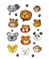 Feest 36x dierentuin dieren stickers 3d effect