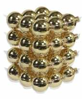 Feest 36x gouden glazen kerstballen 6 cm glans