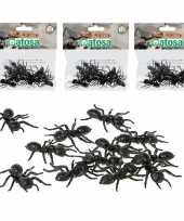 Feest 36x horror decoratie mieren van plastic 5 cm