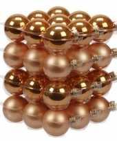 Feest 36x oranje glazen kerstballen 4 cm mat glans