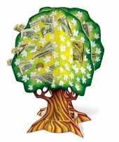 Feest 3d geldboom van karton