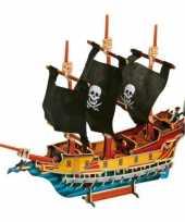 Feest 3d piraten puzzels van hout 89 stukjes