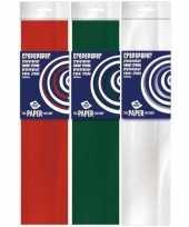 Feest 3x crepe papier basis pakket kerst 250 x 50 cm knutsel materiaal
