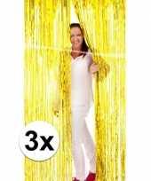 Feest 3x folie gordijn in het goud