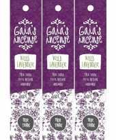 Feest 3x gaias incense luxe wierook stokjes wilde lavendel geur