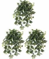 Feest 3x groene hedera helix klimop kunstplanten 65 cm voor buiten