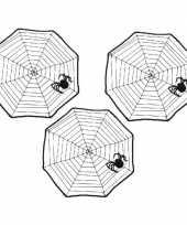 Feest 3x halloween spinnenwebben 40 x 40 cm