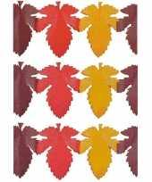Feest 3x herfstbladen decoratie slinger