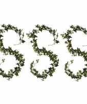 Feest 3x klimop hedera kunstplanten slingers groen 180 cm