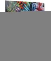 Feest 3x notitieboekjes schriften tropische print met elastiek a4