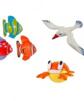 Feest 3x opblaasbare maritiem decoratie zeedieren type 5