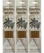 Feest 3x pakje jiri and friends luxe wierook stokjes sandelhout geur