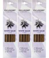 Feest 3x pakje jiri and friends luxe wierook stokjes witte salie geur