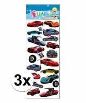 Feest 3x stickervel sportauto
