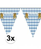 Feest 3x vlaggenlijnen oktoberfest van 5 meter
