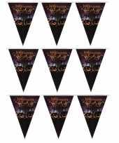 Feest 3x vlaggenlijnen slingers halloween party 250 cm