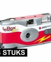 Feest 3x wegwerp cameras met flitser