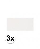 Feest 3x witte crepla plaat met 20 x 30 x 0 2 cm