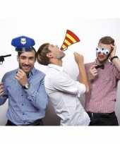 Feest 4 politie photo props op stokje