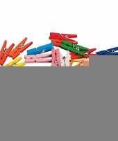 Feest 40 gekleurde houten knijpertjes