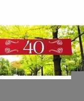 Feest 40 jaar decoratie banner 180 x 40 cm