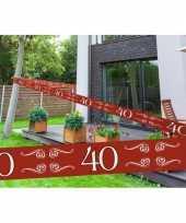 Feest 40 jaar decoratie markeerlint