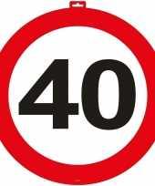Feest 40 jaar verkeersbord deurbord 47 cm